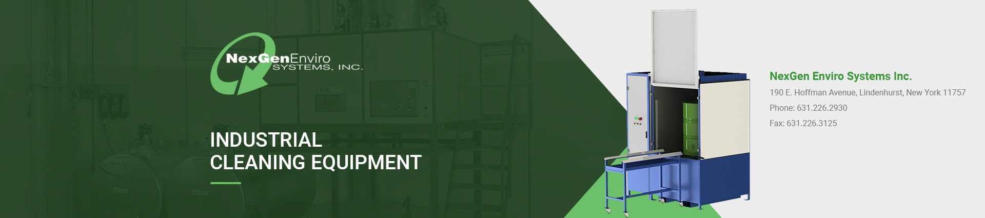 industrial-cleaning-equipment banner NexGen Enviro Systems Inc